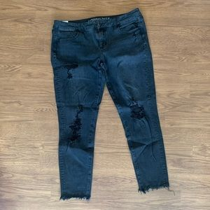 Faded Black Ripped Jeans